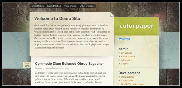 Diez plantillas gratuitas de alta calidad para montar un blog con Drupal